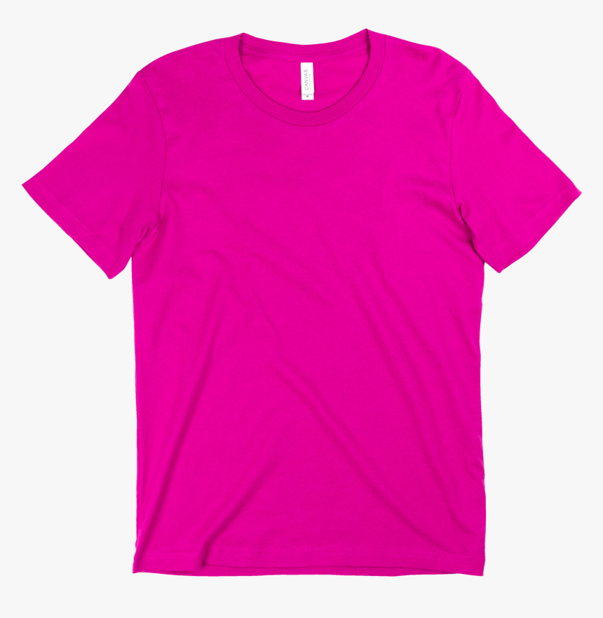 Berry - Canvas - - Hot Pink T Shirt Template, HD Png Download, Free Download