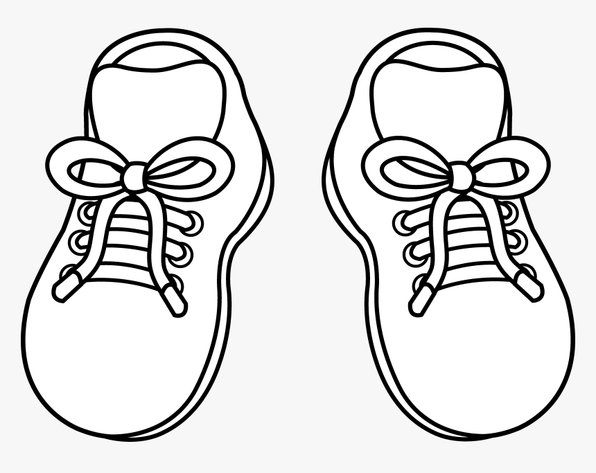 Free Cartoon Download Clip - Shoes Clipart Black And White, HD Png Download, Free Download