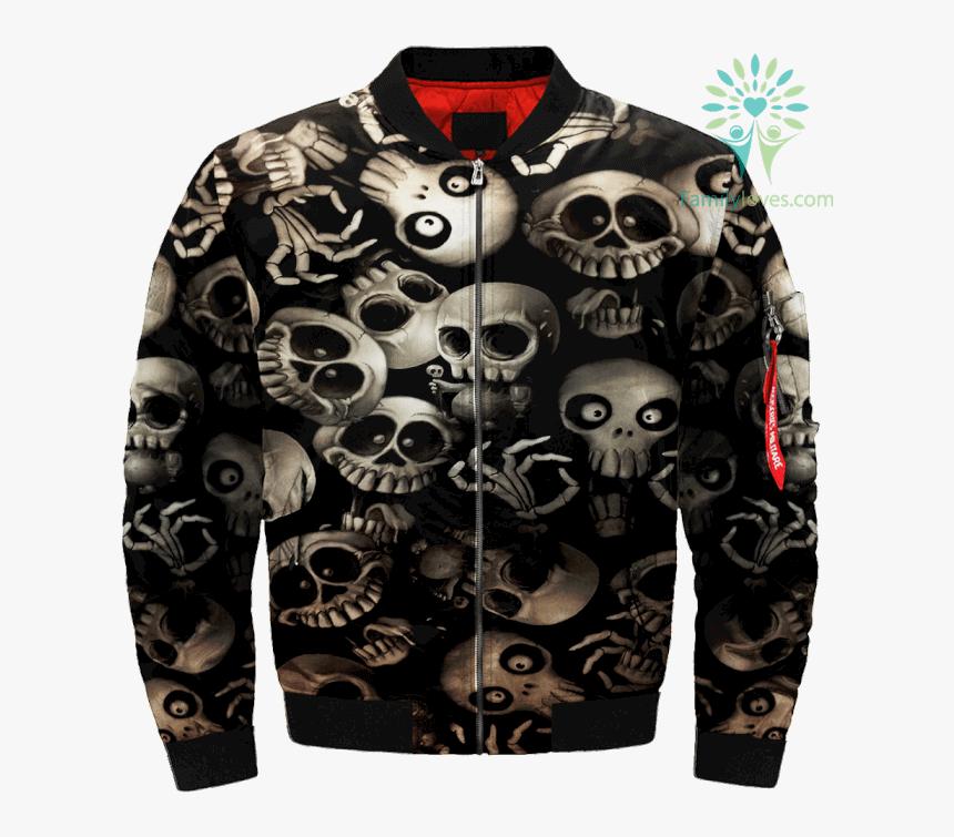 Funny Skeletons Skull Over Print Jacket %tag Familyloves - Jacket, HD Png Download, Free Download