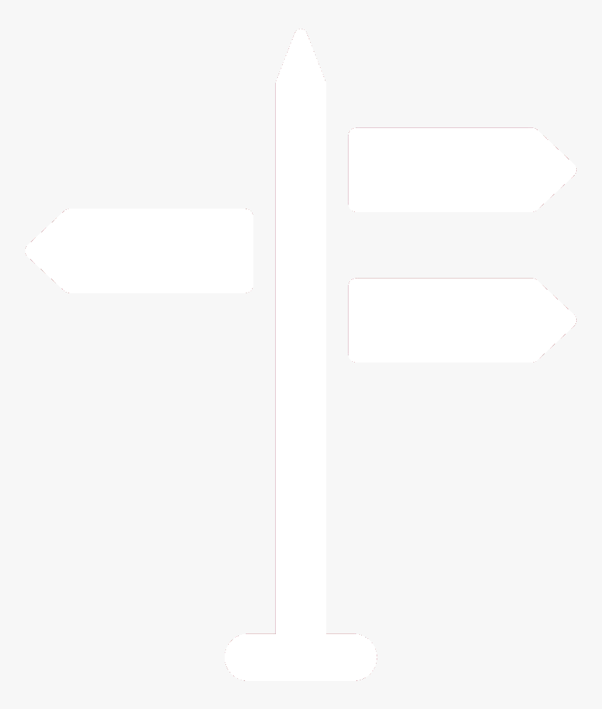 Directions Sign White Png, Transparent Png, Free Download