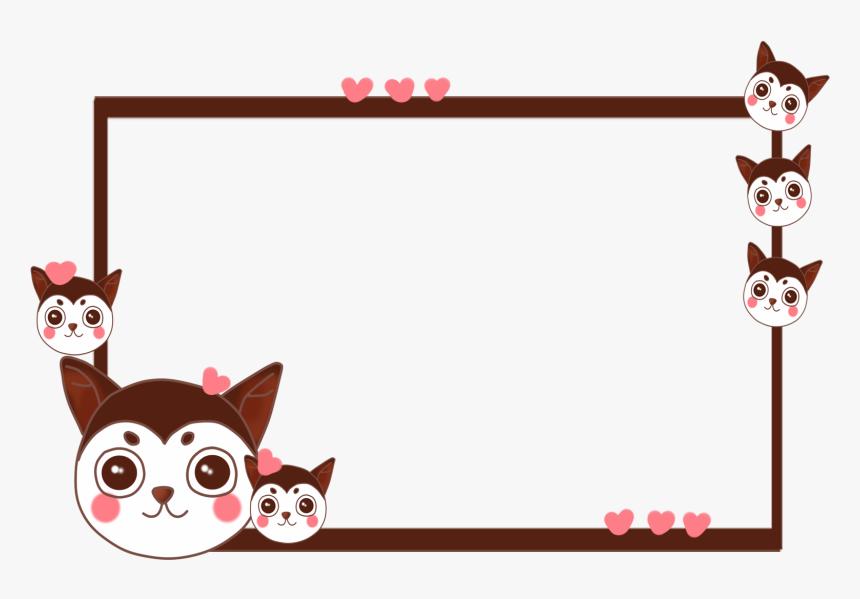 Border Cartoon Q Version Dog Png And Psd Cat Border Clip Art Png Transparent Png Kindpng