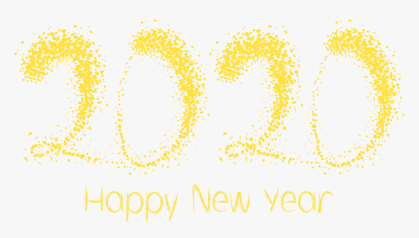 2020 yelow happy new year png clipart image new year 2020 clipart transparent png kindpng 2020 yelow happy new year png clipart