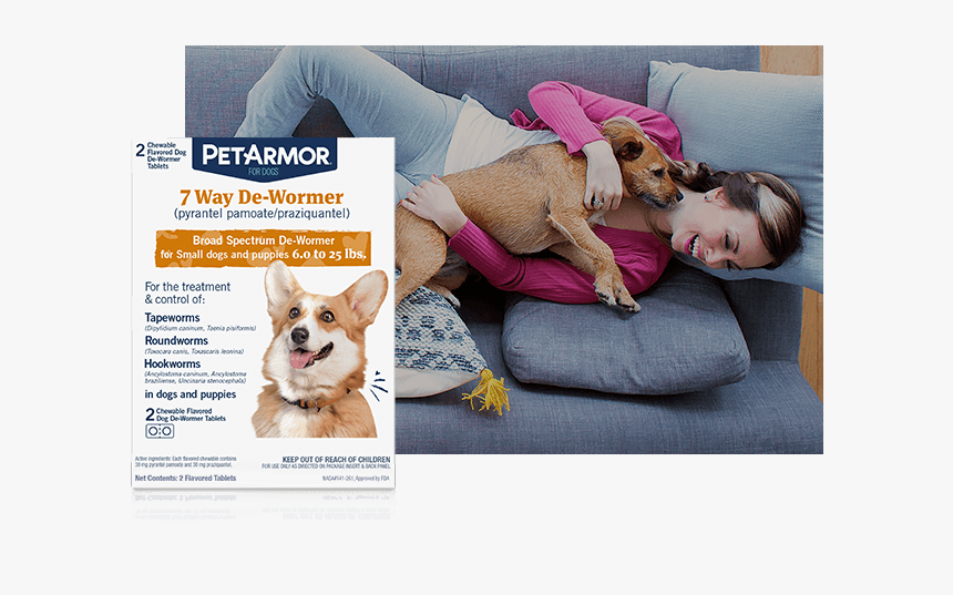 De-wormers - Petarmor 7 Way Chewable De-wormer For Puppies And Small, HD Png Download, Free Download