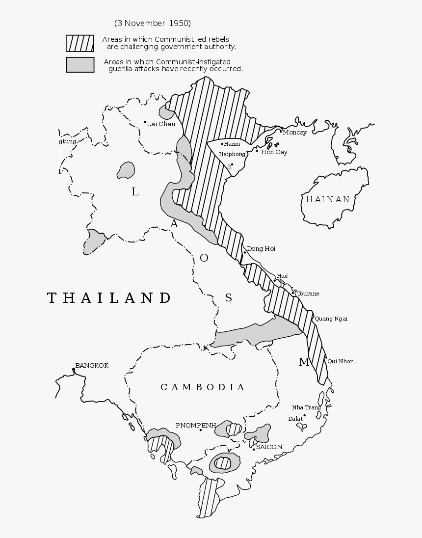 Picture of: Map Of Vietnam From The Pentagon Papers Which Fueled First Indochina War Map Hd Png Download Kindpng