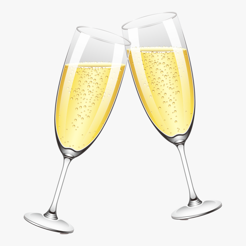 Two Glasses Of Champagne Png Download - Transparent Background Png Clipart Two Champagne Png, Png Download, Free Download