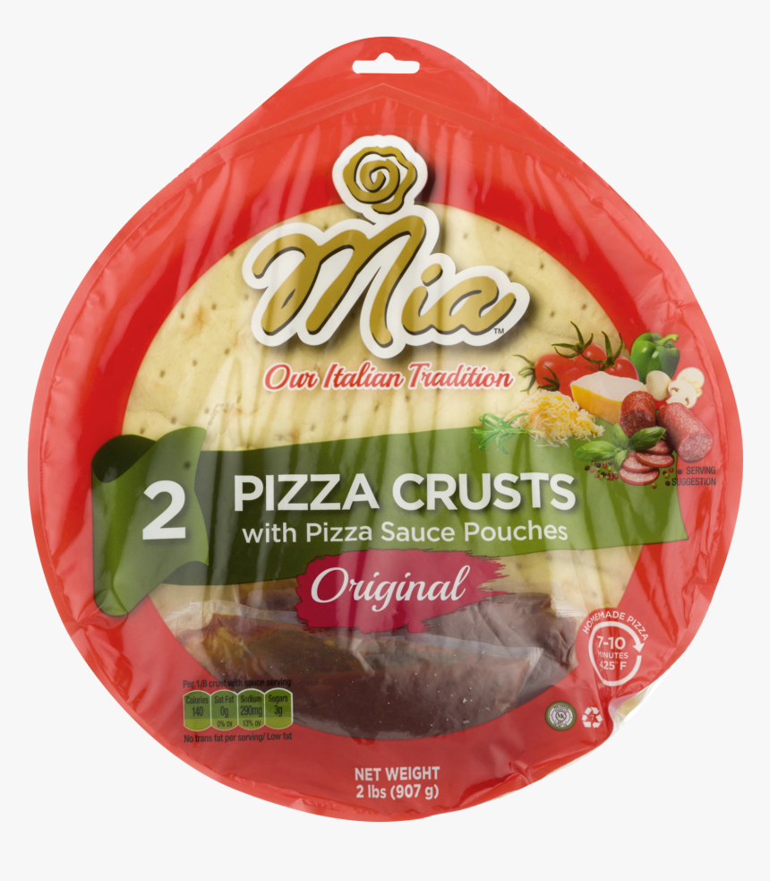 Mia Pizza Crusts With Pizza Sauce Original, HD Png Download, Free Download