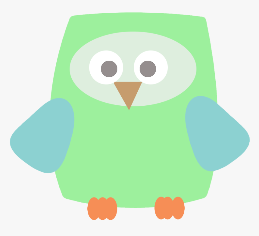 Square Green Owl Clip Art - Owl, HD Png Download, Free Download