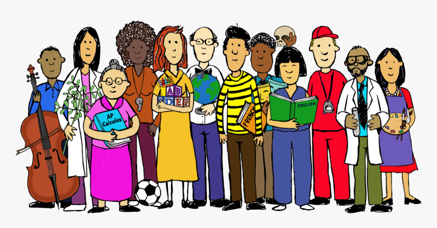 Group Of Teachers Cartoon, HD Png Download, Free Download