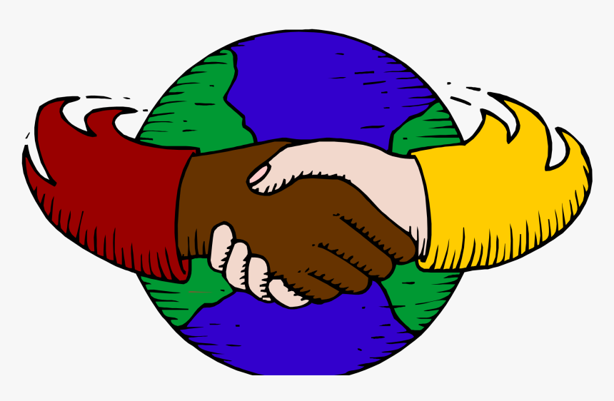 Global Clip Art Vector Illustration Amnesty International - Hand In Hand, HD Png Download, Free Download