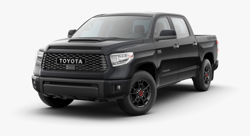 19 Tundra Trd Pro Black Jelly Bean-resized - 2020 Toyota Tundra Trd Pro 5.7 L V8 Double Cab, HD Png Download, Free Download