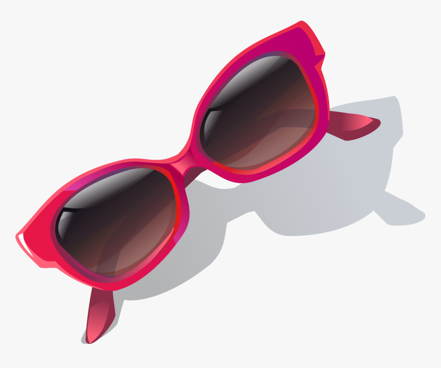 Pink Vector Sunglasses Frame Goggles Hand-painted Clipart - Sunglasses, HD Png Download, Free Download