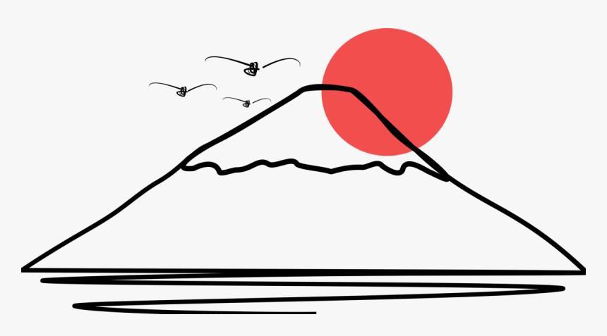 Mount Fuji Clip Art Black and White