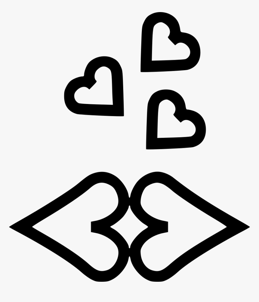 Lips Kiss Kisses Romantic - Romantic Love Icon Png, Transparent Png, Free Download