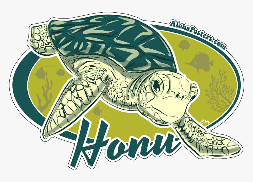 Alohaposters Honu Turtle Sticker - Kemp's Ridley Sea Turtle, HD Png Download, Free Download