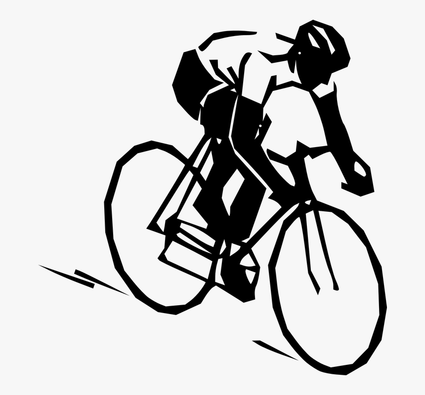 Bike Png Black And White Cycling Clip Art Transparent Png Kindpng