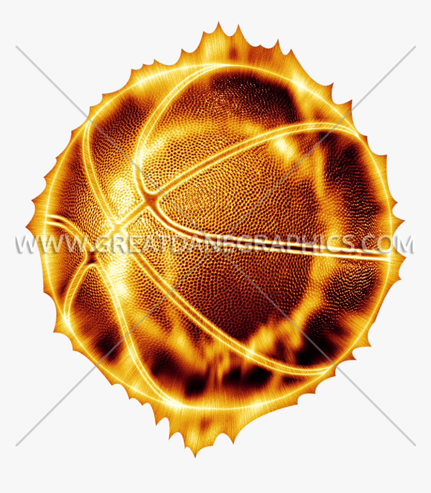 Clipart Fire Basketball - Basketball On Fire Png, Transparent Png, Free Download