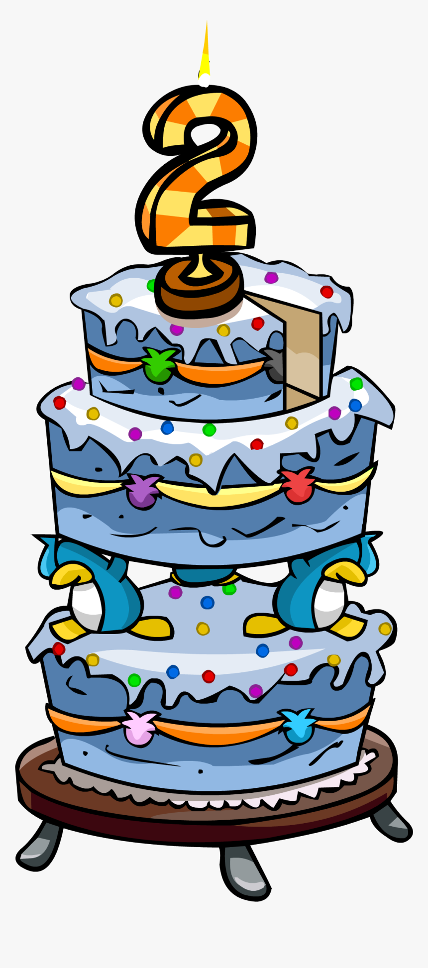 Stupendous 2Nd Anniversary Party Cake 2Nd Birthday Cake Png Transparent Funny Birthday Cards Online Inifodamsfinfo