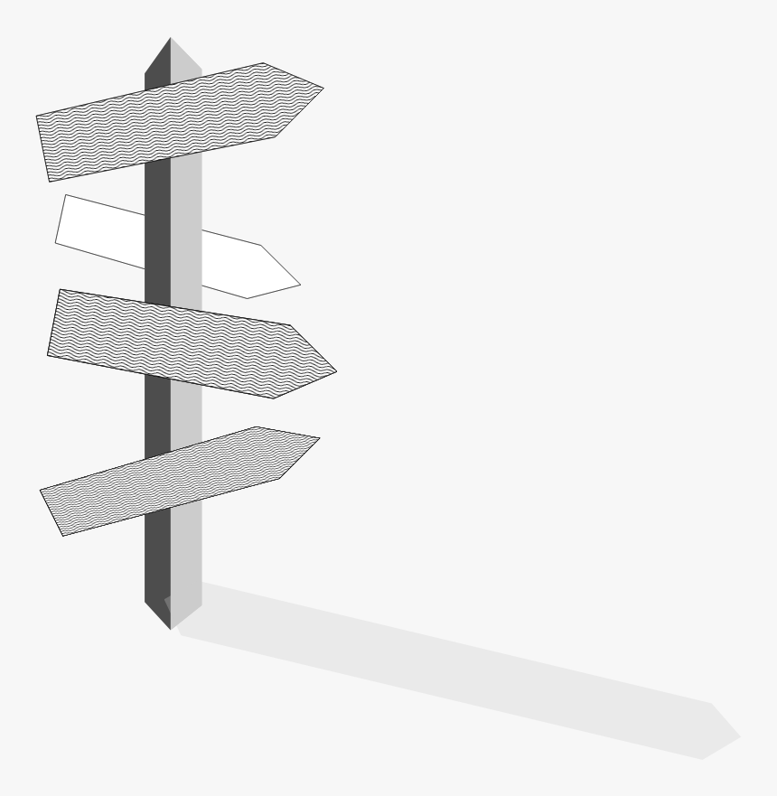 Clipart - Signpost - Sign Post Transparent, HD Png Download, Free Download