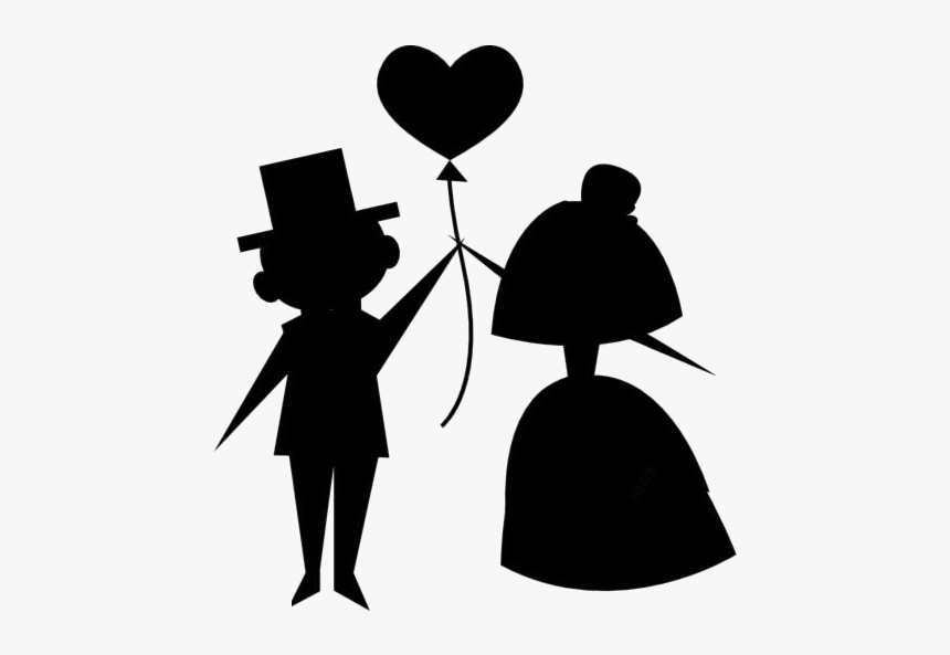 Cartoon Wedding Couple Png Transparent Images - Bride And Groom Png, Png Download, Free Download