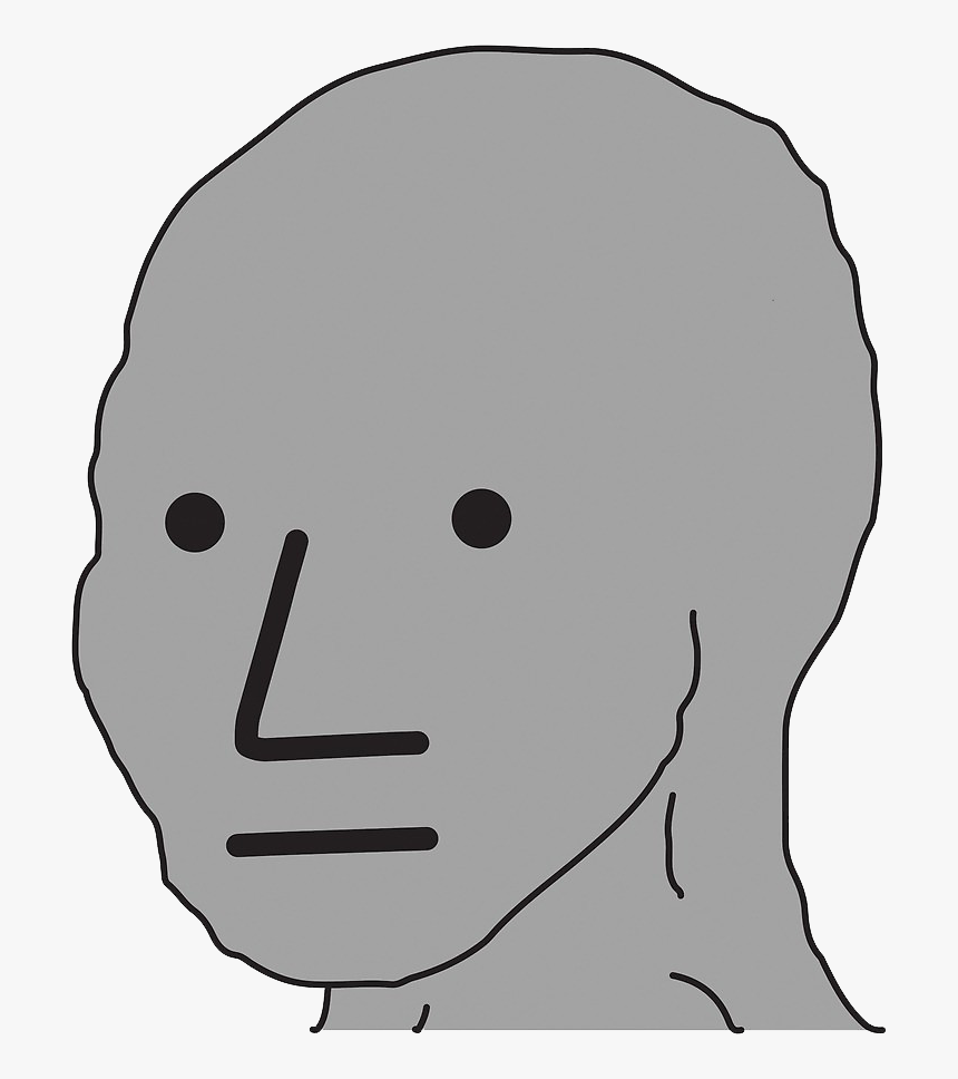 Npc Wojak No Background Hd Png Download Kindpng
