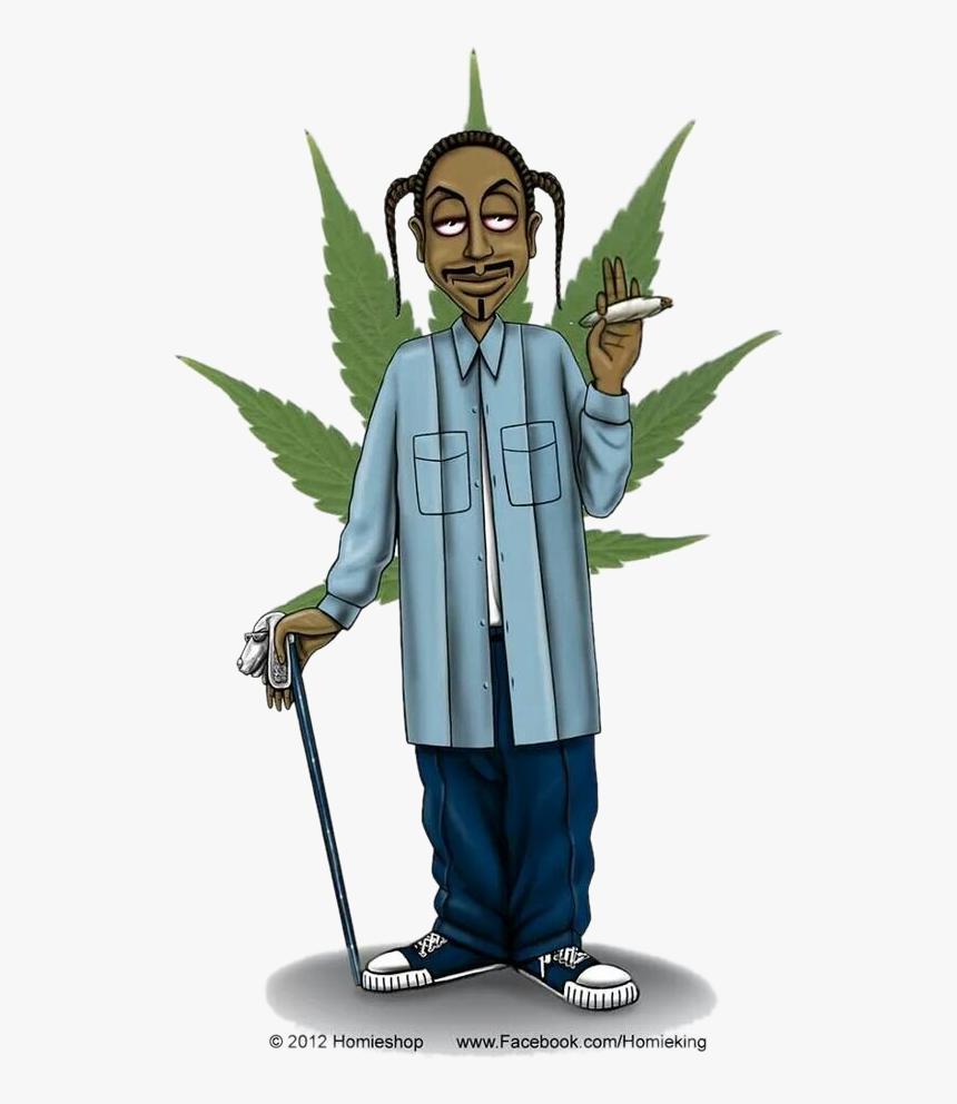 Snoop Dogg Weed Cartoon Hd Png Download Kindpng