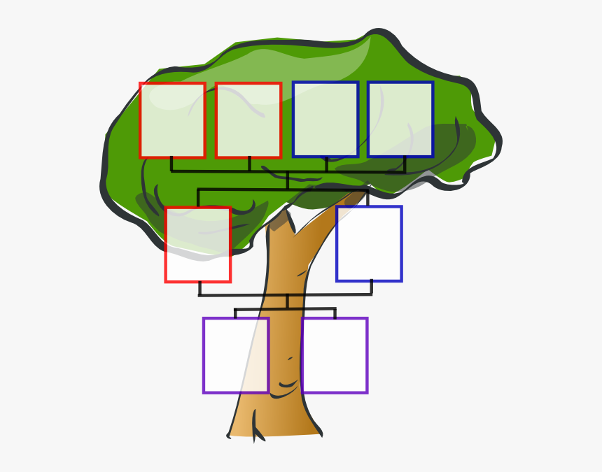 Transparent Family Tree With People Clipart - Family Tree Of 8, HD Png Download, Free Download