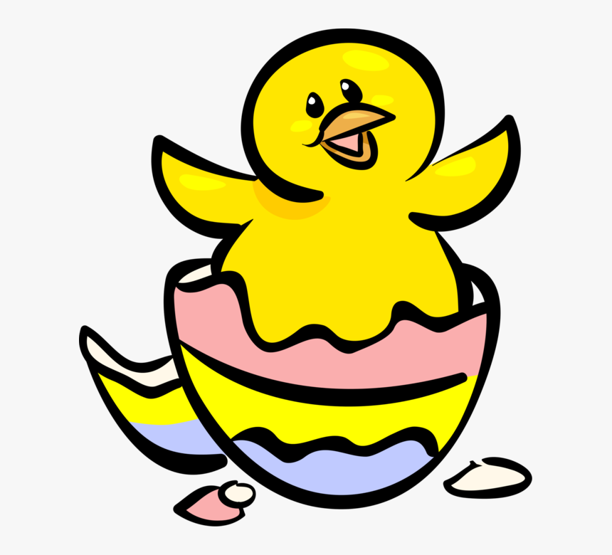 Duck Clip Easter - Easter Clipart Egg Hatching, HD Png Download, Free Download