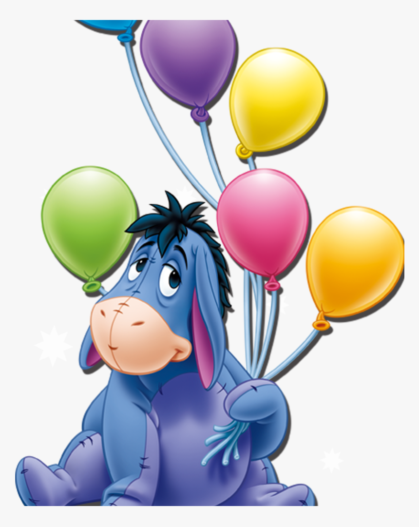 Winnie The Pooh Clipart Holding Balloon - Pony Winnie The Pooh, HD Png Download, Free Download