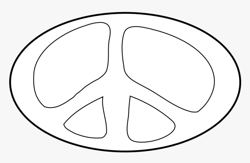Transparent Peace Sign Clipart Black And White - Circle, HD Png Download, Free Download
