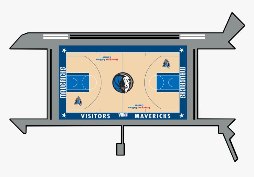 Dallas Mavericks Basketball Court, HD Png Download, Free Download