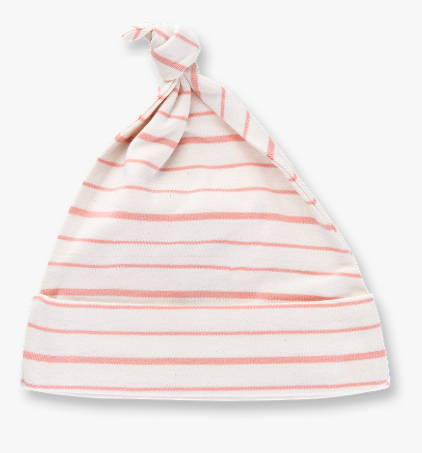 Peach French Stripe Knotted Hat - Beanie, HD Png Download, Free Download