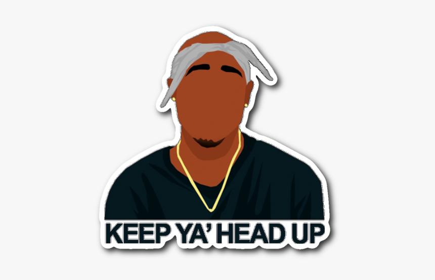 Keep Ya Head Up Tupac Sticker Illustration Hd Png Download