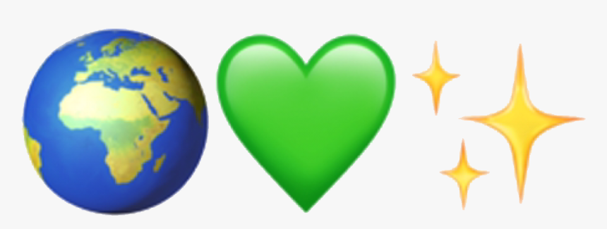 Transparent Glitter Heart Png - Aesthetic Tumblr Green Emojis, Png Download, Free Download