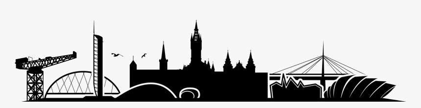 Transparent Skyline Silhouette Png - Glasgow City Outline, Png Download, Free Download