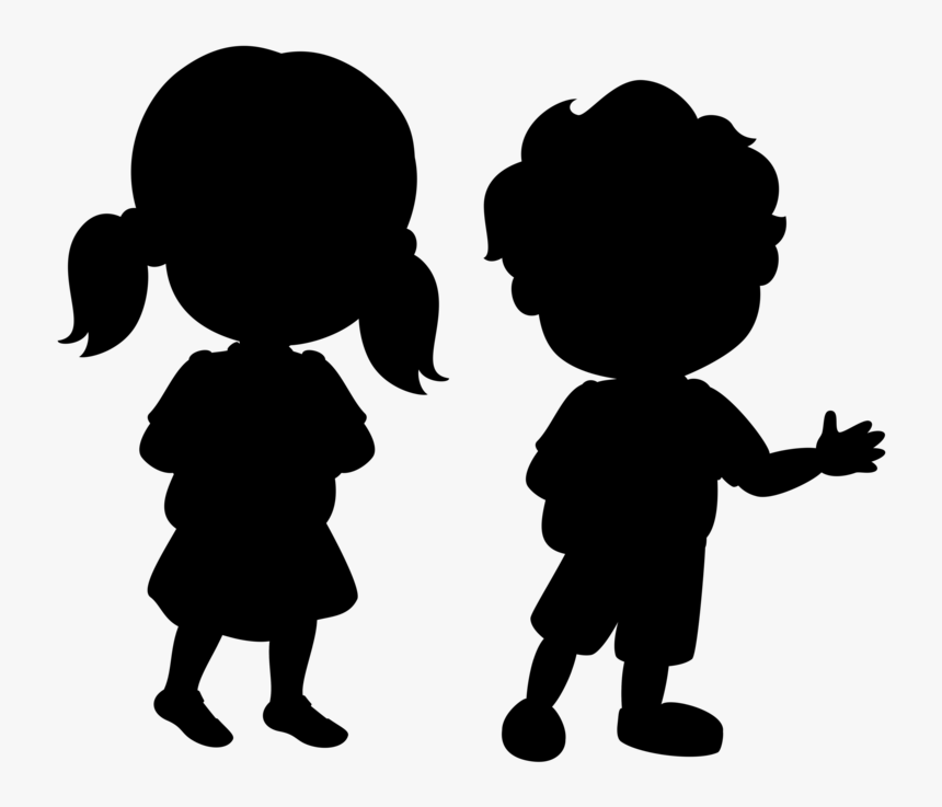 Black White Baby Boy Silhouette Black And White Clipart Hd Png Download Kindpng