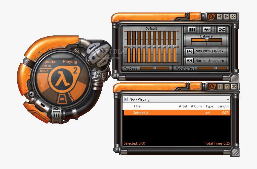 Half Life Winamp Skin, HD Png Download, Free Download