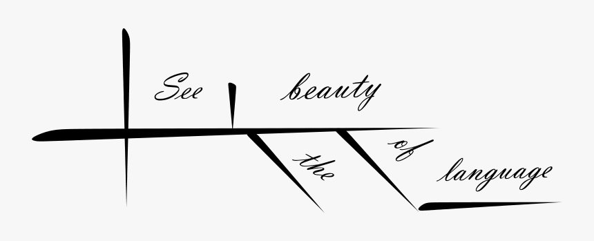 See The Beauty Of Language - Sentence Diagram I Love, HD Png Download, Free Download