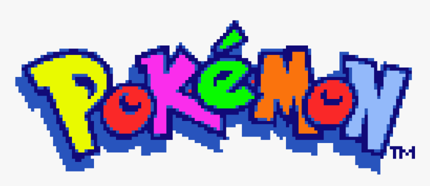 Transparent Pokemon Logo Png Minecraft Pixel Art Pokemon