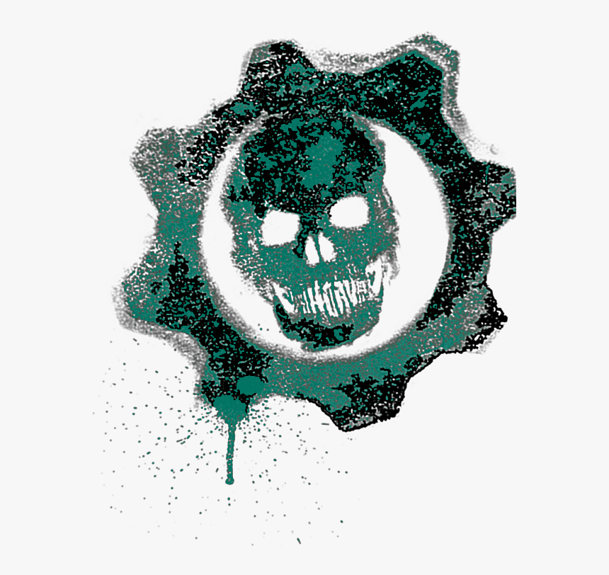 I Made A Pretty Crimson Omen - Gears Of War Logo Png, Transparent Png, Free Download