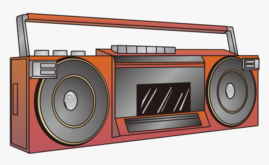 Painted Red Radio Pictures Png Download - Cartoon Boom Box Png, Transparent Png, Free Download