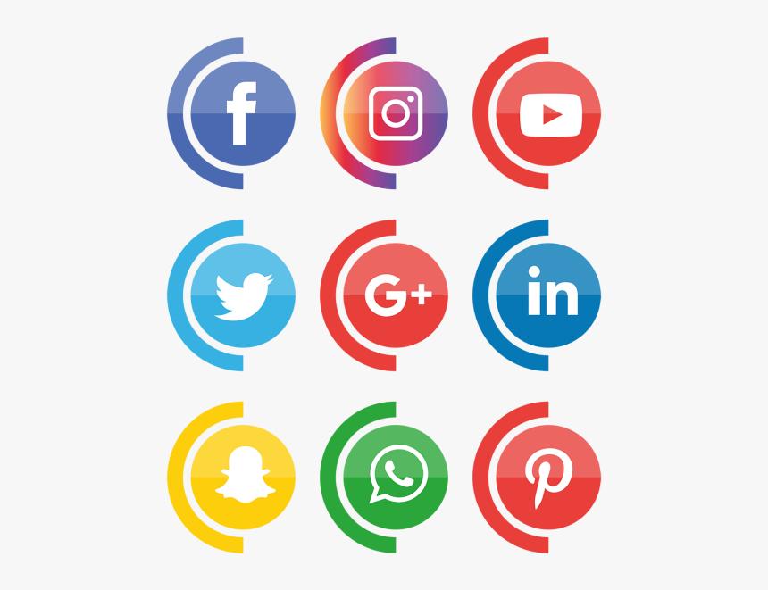 Social Media Icons Set - Transparent Background Social Media Icons Png, Png Download, Free Download
