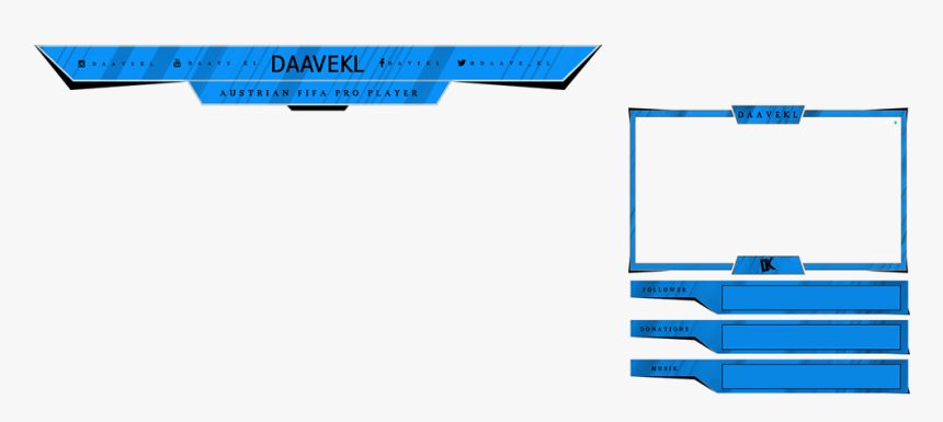 Twitch Overlays On Behance Jpg Freeuse Library - Blue Transparent Twitch Overlay Png, Png Download, Free Download