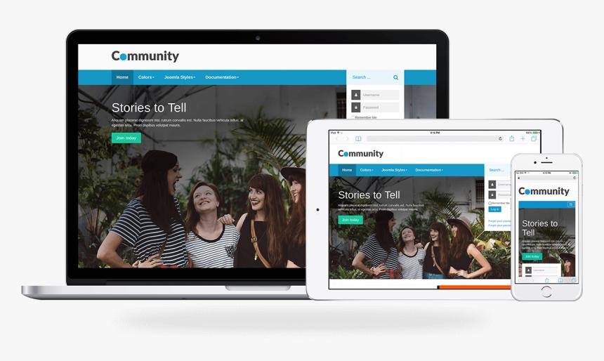 Community, A Social Joomla Template - Multimedia Software, HD Png Download, Free Download