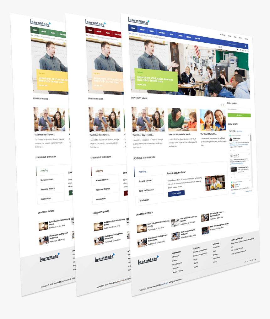 Education Joomla Template Creative Web Design Templates Png Transparent Png Kindpng