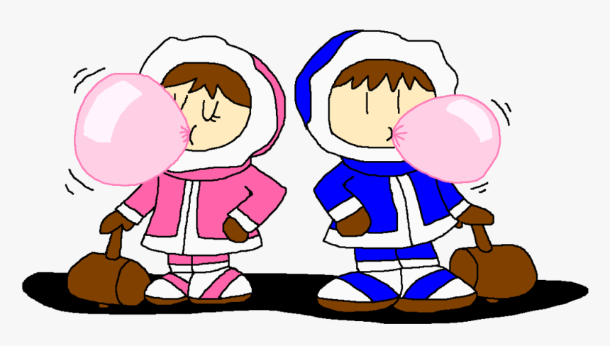 Ice Climbers Blowing Bubble Gum By Pokegirlrules - Ice Climbers Clipart, HD Png Download, Free Download