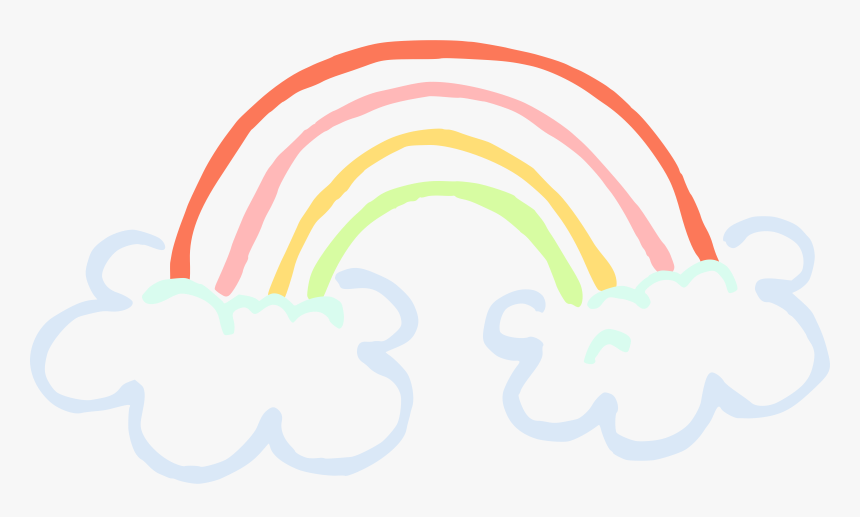 Cloud Rainbow Clipart Png Transparent Png , Png Download - Clouds Rainbow Png, Png Download, Free Download