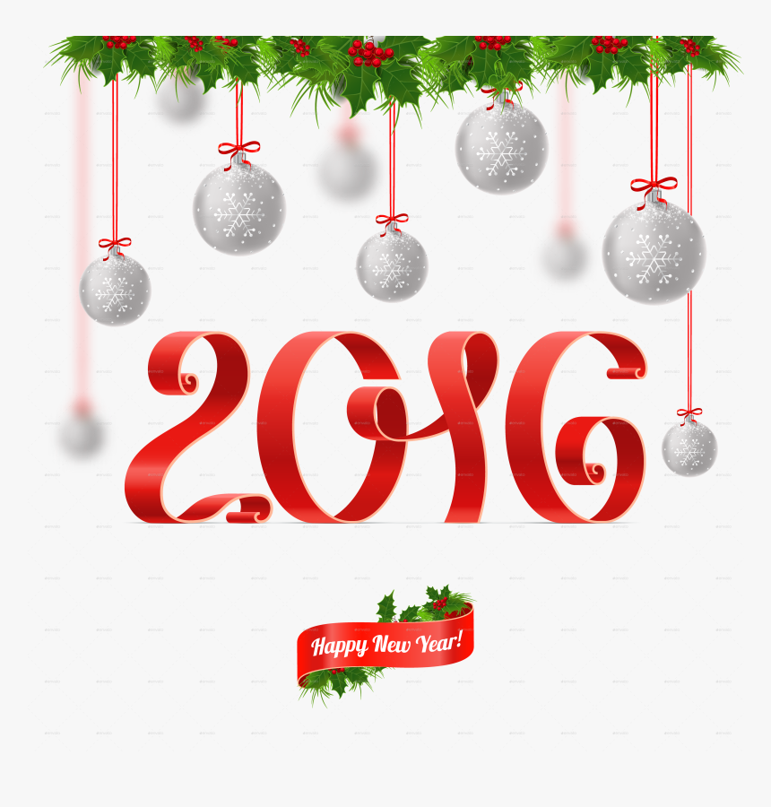 Merry Christmas And Happy New Year - Merry Christmas And A Happy New Year Ornaments Transparent, HD Png Download, Free Download
