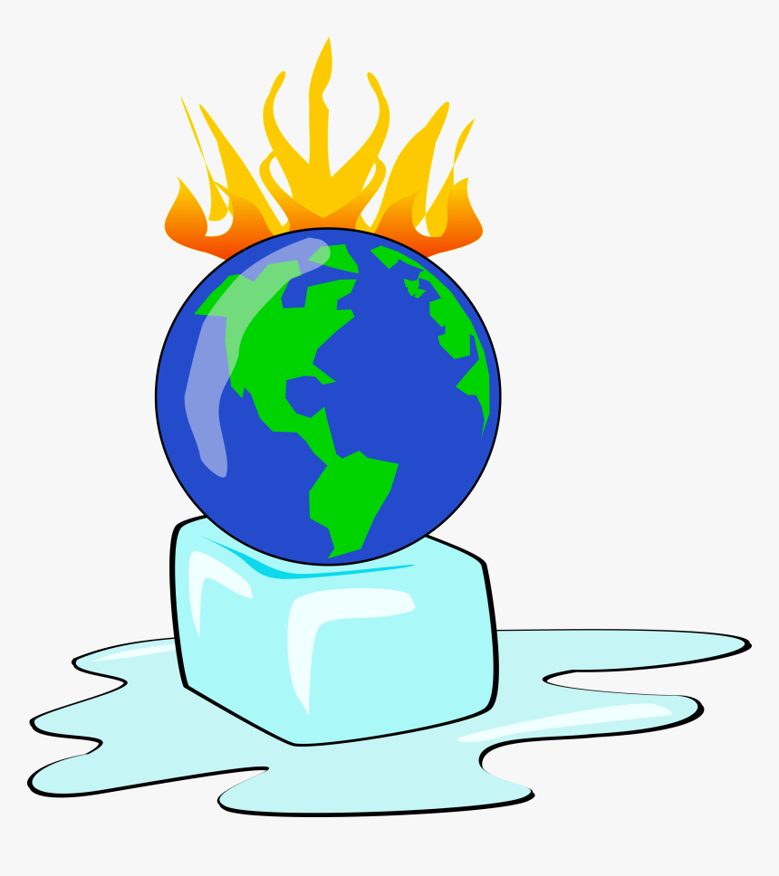 Earth On Fire Png - Earth Climate Change Clipart, Transparent Png, Free Download