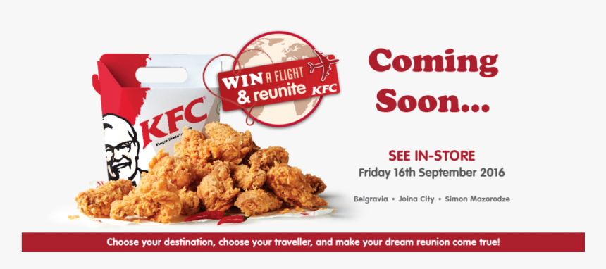 Http - //www - Kfc - Co - Zw/wp Win A Flight Coming - Kfc, HD Png Download, Free Download