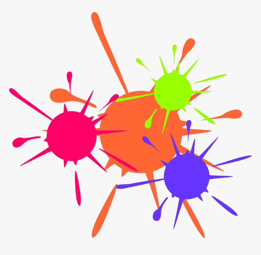 Paint Clipart Transparent Background - Clip Art Paint Splash, HD Png Download, Free Download